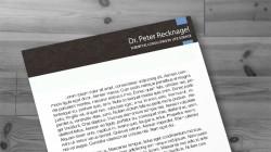 Logo, Briefpapier und Visitenkarten – Dr. Peter Recknagel