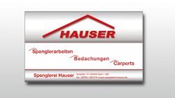 Zeitungsanzeige Spenglerei Hauser