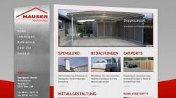 Spenglerei Webseite Hauser Rohr