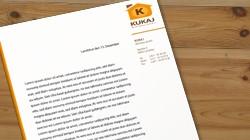 Logo, Briefpapier und Visitenkarten Kukaj Wohnbau