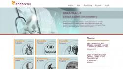 Endoscout Medizintechnik Freiburg – Re-Design Webseite