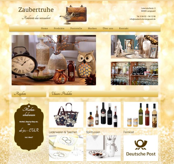 Webdesign Zaubertruhe Langquaid