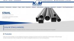 Webseite K&M Stahlhandel