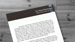 Logo, Briefpapier und Visitenkarten – Dr. Peter Recknagel