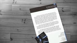 Briefpapier und Visitenkarten Design
