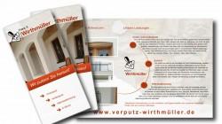 Image-Flyer der Firma Verputz Wirthmüller