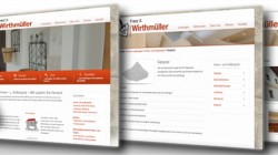 Re-Design Webseite Fa. Wirthmüller