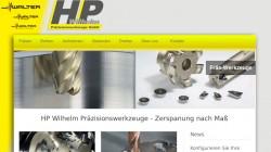 Webseite für Zerspanungs-Werkzeug