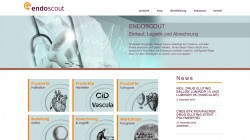 Endoscout Medizintechnik Freiburg – Re-Design Webseite