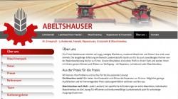 Webseite Abeltshauser Lohnbetrieb