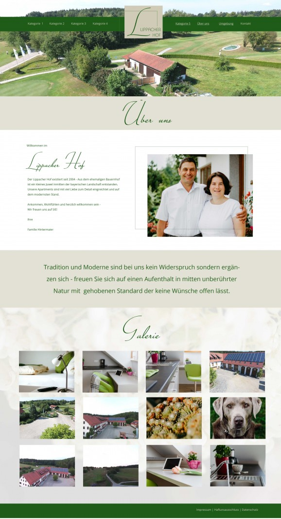 Re-Design Webseite Lippacherhof