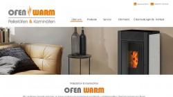 Ofen Warm One-Page Webseite
