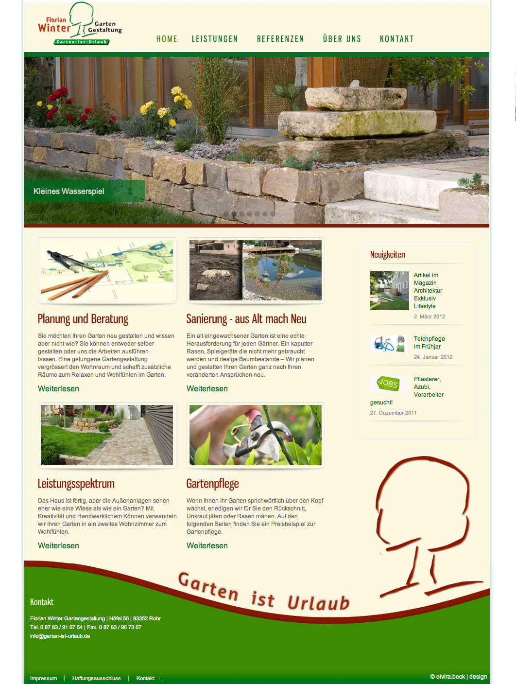 Re design webseite winter gartenbau rohr elvira beck design - Winter gartenbau ...