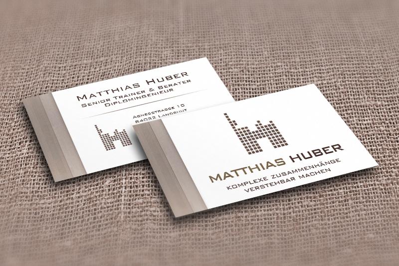Visitenkarten in leinenstruktur elvira beck design for Visitenkarten ideen